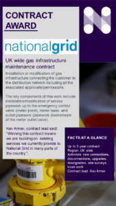 New five year gas maintenance framework with National Grid