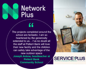 Network Plus engineers helped transform a school staff room in Cumbria