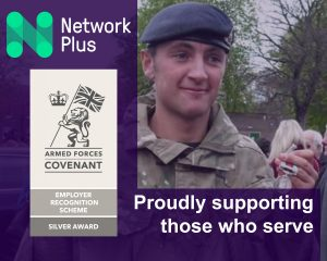 Network Plus has been awarded silver on the Ministry of Defence's Employer Recognition Scheme, acknowledging its outstanding support for the Armed forces community